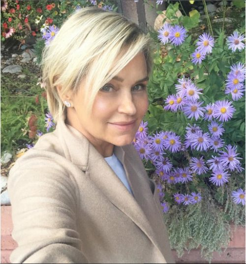 Yolanda Foster Stops To Smell The Roses